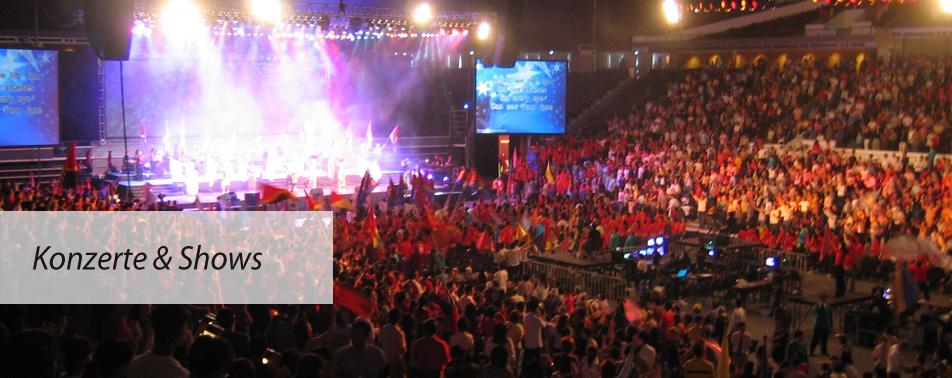Organisation von Konzerten und Shows